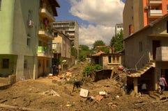 Ð  fter overstromend Varna Bulgarije 19 Juni Stock Foto's