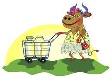 Ð ¡ heerful krowa Zdjęcie Stock