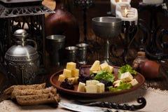 Ð-¡ heese Platte, Parmesankäse, Dor Blue, Camembert Stockfoto