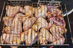 Ð ¡ hicken在烤肉的翼 免版税库存照片