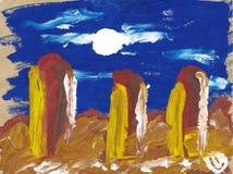 ¡ Ð hildren ландшафт картины Стоковые Фотографии RF