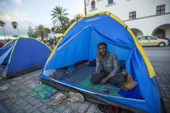 Ð ¡ hildren oorlogsvluchtelingen Meer dan half zijn migranten van Syrië Stock Foto's
