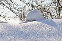 Ð ¡ himney在冬天 图库摄影