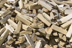 Ð ¡ hopped hout voor de open haard/het fornuis Royalty-vrije Stock Foto's