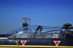Рilatus PC-9M飞机座舱 免版税图库摄影