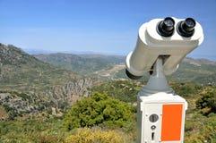 Binocular panoramic. Вinocular panoramic, view of the mountain landscape Royalty Free Stock Photos