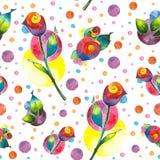 Ð ¡ ircles en rozen Royalty-vrije Stock Afbeelding