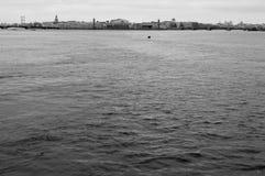 ¡ Ð ity на реке Стоковые Фото