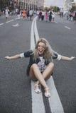 De lach van het meisje Royalty-vrije Stock Fotografie