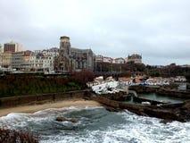 Оld hamn av Biarritz, Frankrike Arkivbilder
