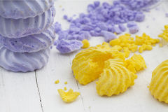 Spring Crumbled Meringues Stock Images