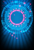 Вlue abstract background with glowing lights. Technological Abstract with bright light Royalty Free Stock Photo