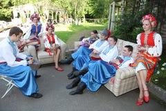Ð ¾ n阶段是舞蹈家和歌手,演员,合唱成员,芭蕾舞团的舞蹈家,乌克兰哥萨克合奏的独奏者 免版税图库摄影