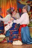 Ð ¾ n阶段是舞蹈家和歌手,演员,合唱成员,芭蕾舞团的舞蹈家,乌克兰哥萨克合奏的独奏者 库存图片