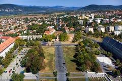 Оn el tejado de la basílica de St Adalbert en Esztergom Imagenes de archivo