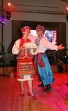Ð-¾ n Stadium sind Tänzer und Sänger, Schauspieler, Chormitglieder, Tänzer von corps de ballet, Solisten des ukrainischen Kosaken Lizenzfreie Stockfotos