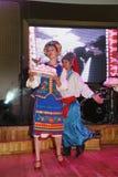 Ð-¾ n Stadium sind Tänzer und Sänger, Schauspieler, Chormitglieder, Tänzer von corps de ballet, Solisten des ukrainischen Kosaken Lizenzfreies Stockbild