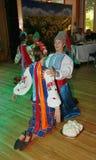 Ð-¾ n Stadium sind Tänzer und Sänger, Schauspieler, Chormitglieder, Tänzer von corps de ballet, Solisten des ukrainischen Kosaken Stockbild