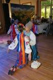 Ð-¾ n Stadium sind Tänzer und Sänger, Schauspieler, Chormitglieder, Tänzer von corps de ballet, Solisten des ukrainischen Kosaken Stockbilder