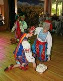 Ð-¾ n Stadium sind Tänzer und Sänger, Schauspieler, Chormitglieder, Tänzer von corps de ballet, Solisten des ukrainischen Kosaken Stockfotos