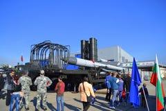 Ð  nti航空器导弹complexe飞行表演索非亚,保加利亚 免版税库存图片