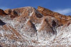 Долина луны - Ла луна Valle de, пустыня Atacama, Чили стоковое фото rf
