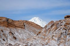 Долина луны - Ла луна Valle de, пустыня Atacama, Чили стоковые фотографии rf