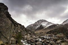 Долина Snowdonia северное Уэльс Tryfan Ogwen стоковая фотография rf