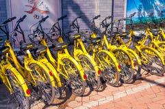 Доля велосипеда в bejing фарфора стоковое изображение rf
