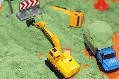 Домашний ящик с песком для творческих способностей Развитие ребенка дома стоковая фотография rf