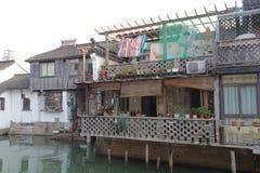 Дома вдоль каналов стоковые изображения rf