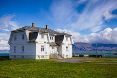 Дом Рейкявик Исландия Скандинавия Hofdi стоковое изображение rf