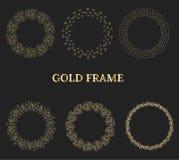 дополнительный иллюстратор золота рамки формы eps самана включает иллюстрация вектора