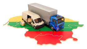 Доставка и доставка в концепции Литвы, переводе 3D бесплатная иллюстрация