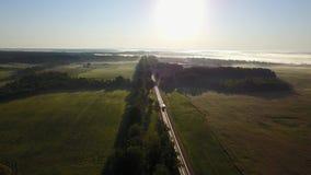 Дорога и восход солнца видеоматериал