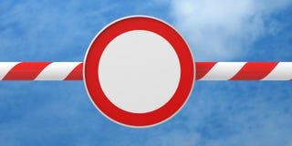 Дорожный знак барьера запрета запрещающий иллюстрация штока