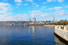 Ð ¡ oast morze kaspijskie w Baku obrazy stock