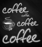 Ð-¡ oben des Kaffees Stockfotografie