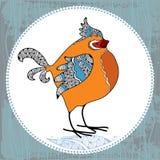 Ð- och dragen dekorativ domherre Stock Illustrationer