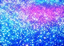 Ðœodernachtergrond van kleurrijke glanzende stralen op blauw royalty-vrije illustratie