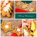 Ð ¡ ollage 圣诞节姜饼干 库存照片