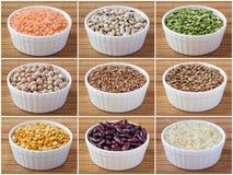 Ð-¡ ollage av legumes och sädesslag Royaltyfria Bilder