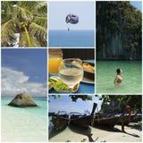 Ð-¡ ollage Feiertag in dem Meer Lizenzfreies Stockfoto