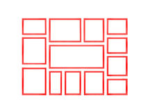 Сolored picture frames. Royalty Free Stock Image