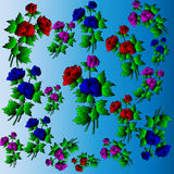 Ð ¡ olored róże Obrazy Stock