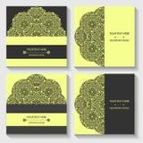 Ð ¡ olour decoratief ontwerpelement met een cirkelpatroon mandala Stock Afbeeldingen