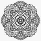 Ð ¡ olour decoratief ontwerpelement met een cirkelpatroon mandala Stock Foto's