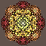 Ð ¡ olour dekoracyjny tło z kurenda wzorem mandala royalty ilustracja
