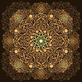 Ð ¡ olour projekta dekoracyjny element z kurenda wzorem mandala ilustracji