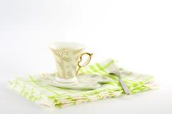 Ð ¡ omhoog van koffie op een schotel Royalty-vrije Stock Fotografie